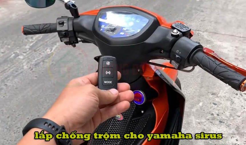 lắp chống trộm xe máy yamaha sirus smartkey